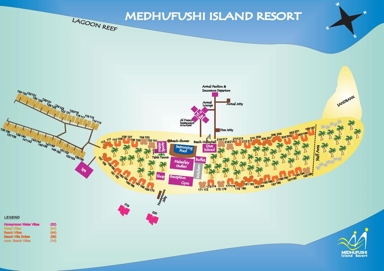 Отель расположен в Меему Атолле (Meemu Atoll), в 128 км от аэропорта.  Трансфер на гидросамолете - 40 минут.